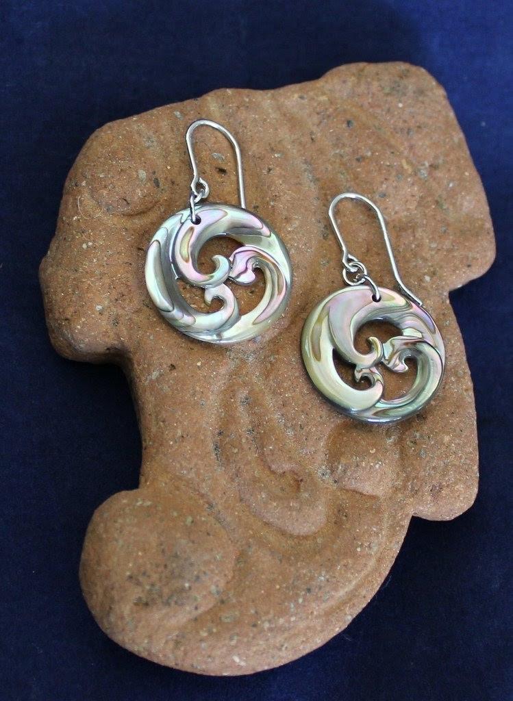 Abalone Koru Earrings