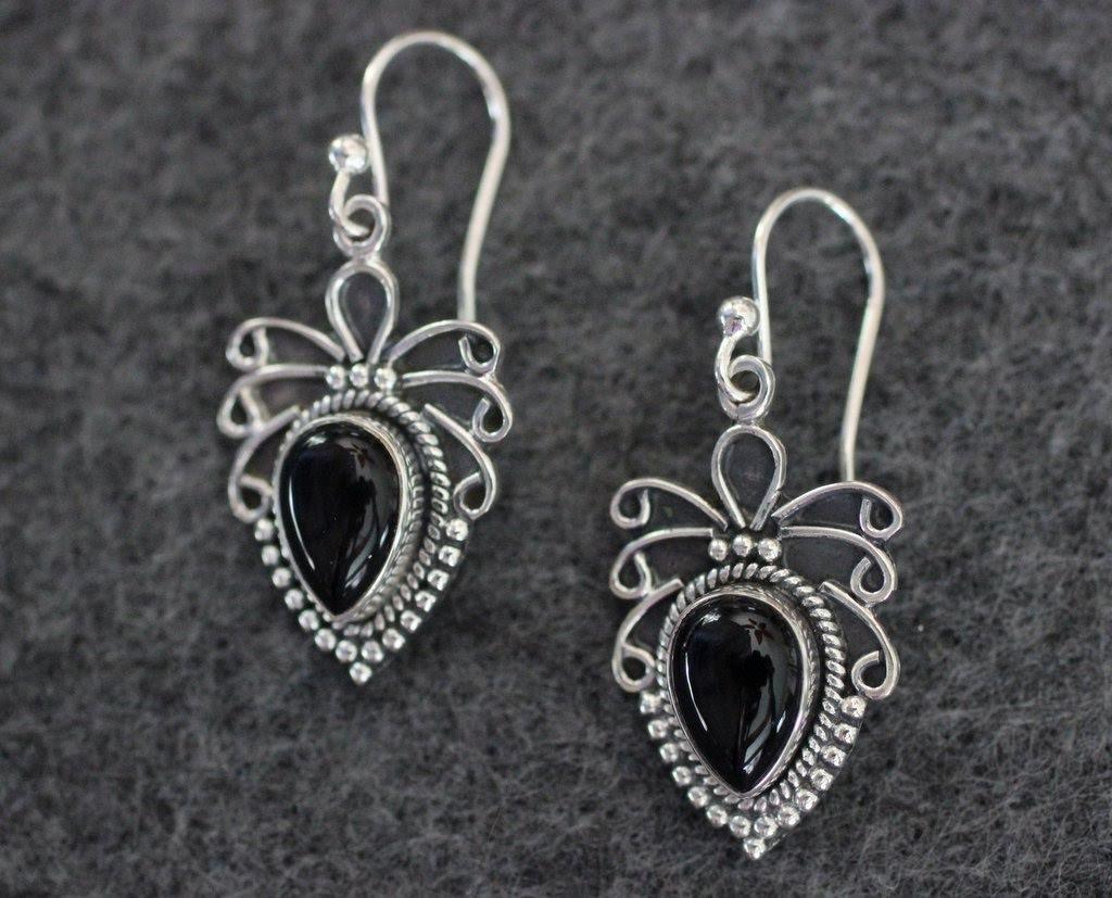 Aztec Onyx earrings