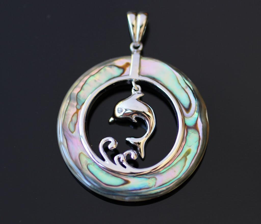 Abalone with Dolphin Pendant