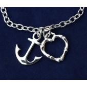 Anchor Heart Bracelet