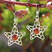 Amber Starfish Earrings
