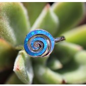 Blue spiral ring